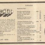 Sumario de la revista Insólito, edición Nº 44 del año 1979.