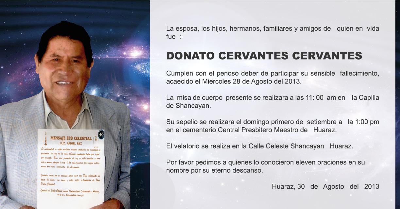 Hasta siempre Donato Cervantes
